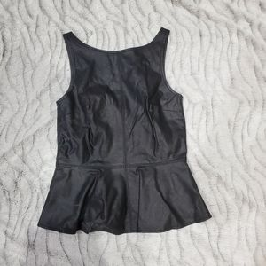 ZARA BLACK PEPLUM TOP